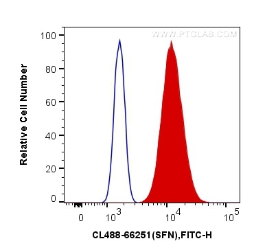 FC experiment of A431 using CL488-66251