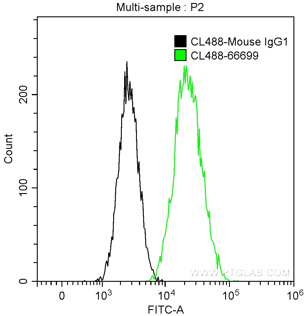 FC experiment of NIH/3T3 using CL488-66699