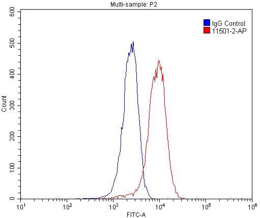 FC experiment of HepG2 using 11501-2-AP