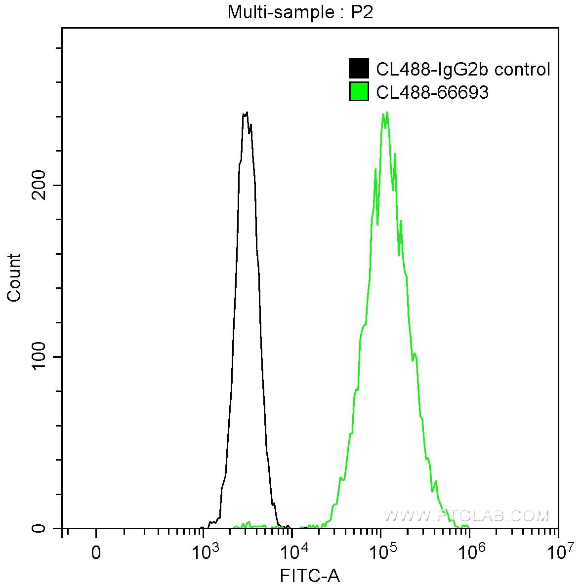 FC experiment of HeLa using CL488-66693