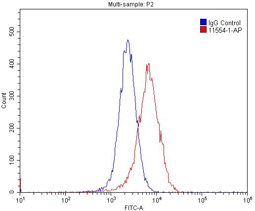 FC experiment of MCF-7 using 11554-1-AP