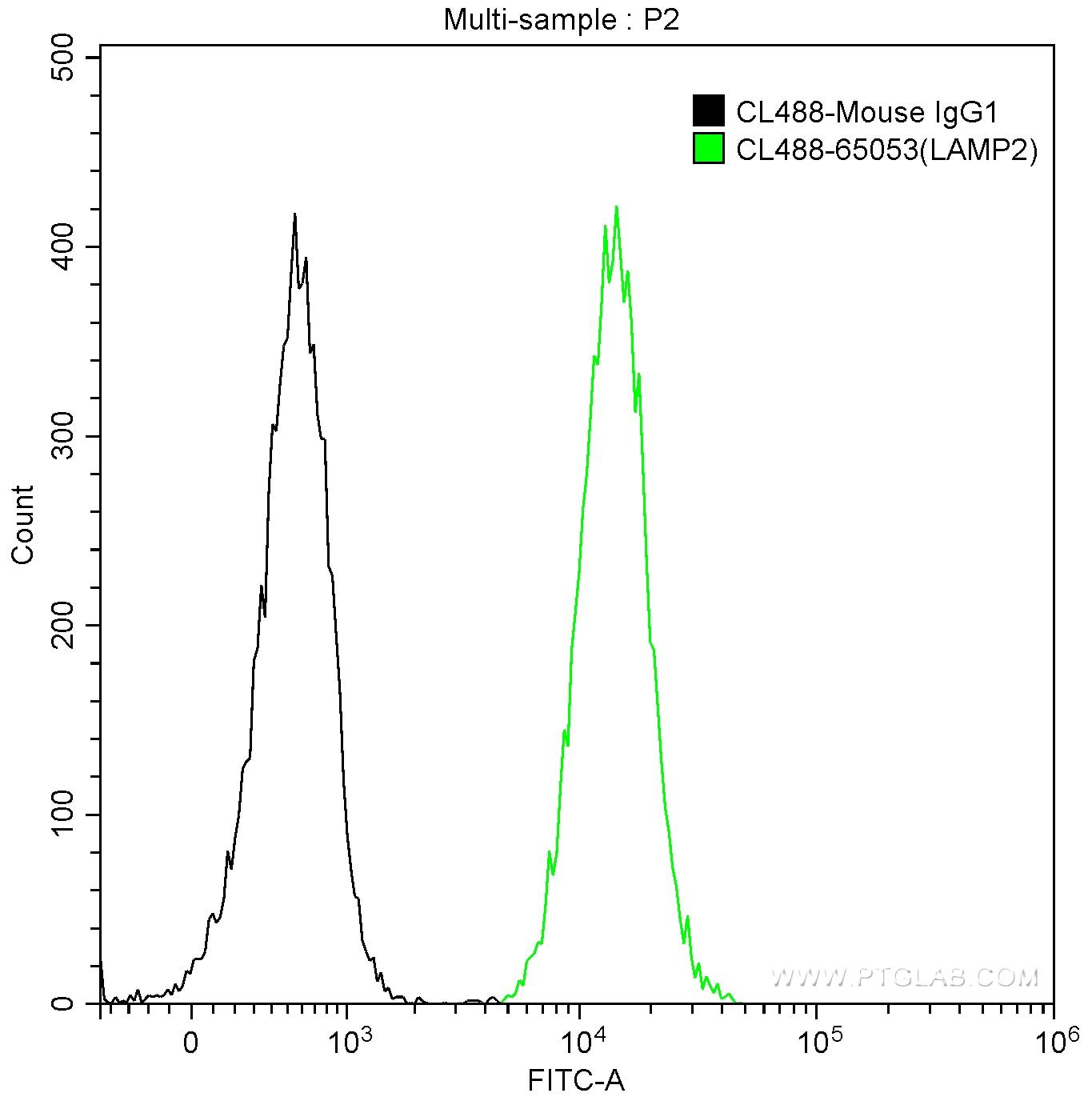 FC experiment of Jurkat using CL488-65053