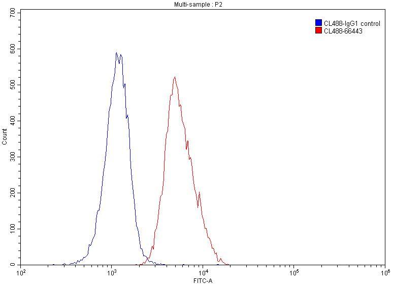 FC experiment of Jurkat using CL488-66443