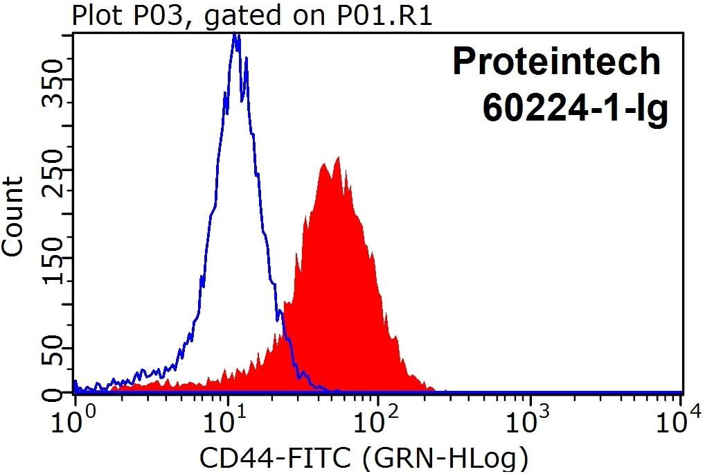 FC experiment of Raji using 60224-1-Ig