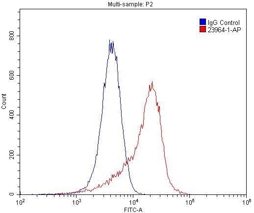 FC experiment of HUVEC using 23964-1-AP