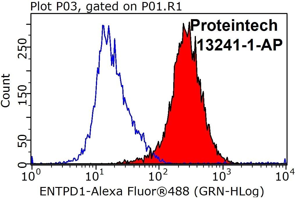 FC experiment of Jurkat using 13241-1-AP
