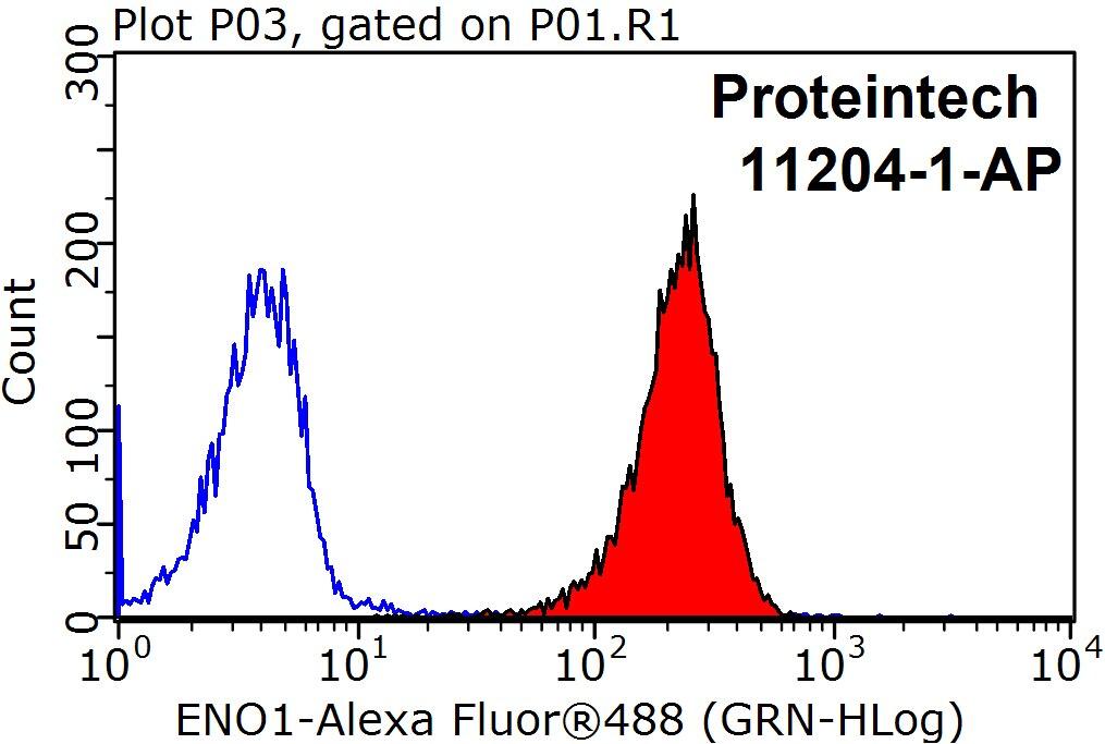 FC experiment of HeLa using 11204-1-AP