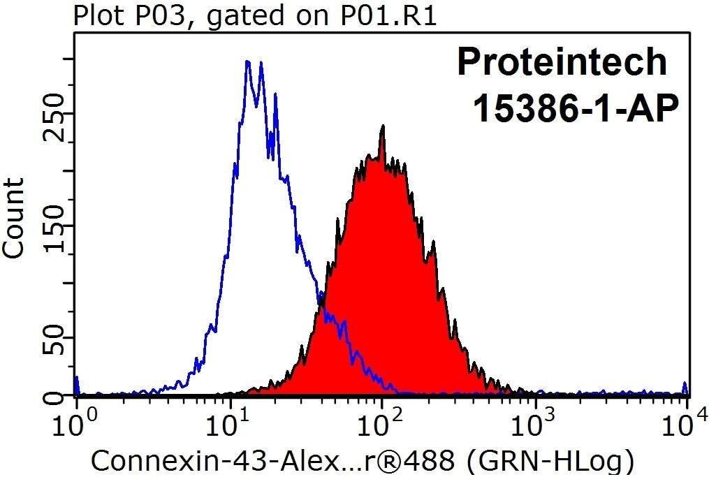 FC experiment of Jurkat using 15386-1-AP