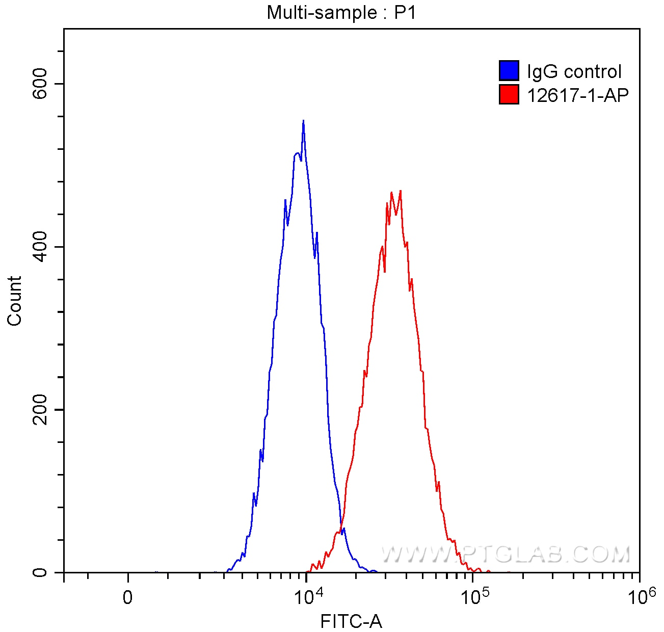 FC experiment of SH-SY5Y using 12617-1-AP