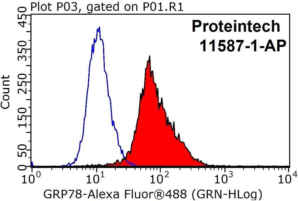 FC experiment of HeLa using 11587-1-AP