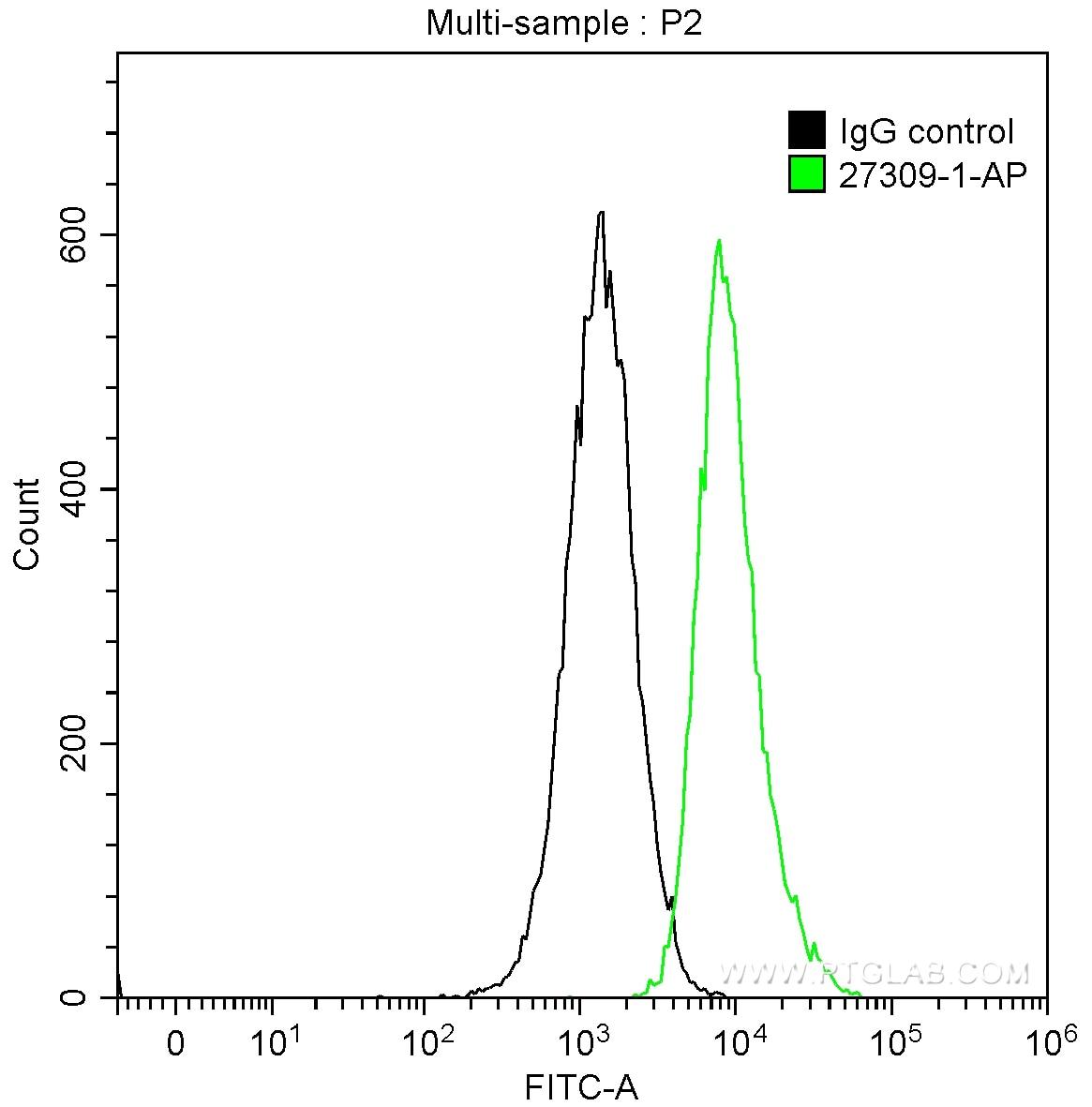 FC experiment of Jurkat using 27309-1-AP