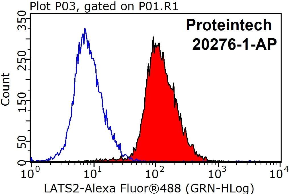 FC experiment of HeLa using 20276-1-AP
