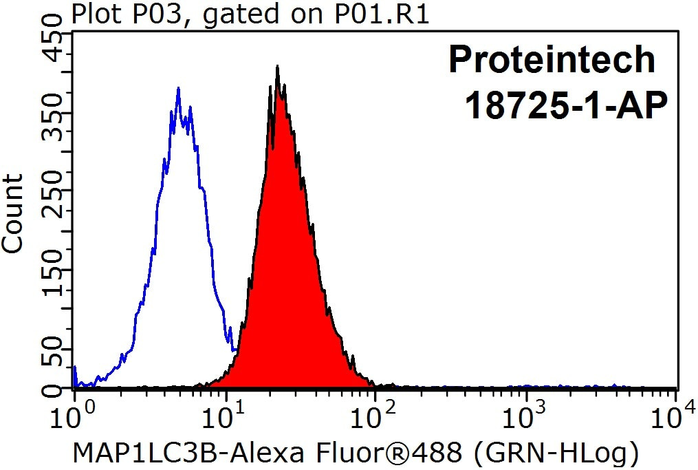 FC experiment of HeLa using 18725-1-AP