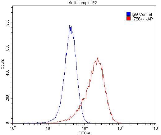 FC experiment of HUVEC using 17564-1-AP
