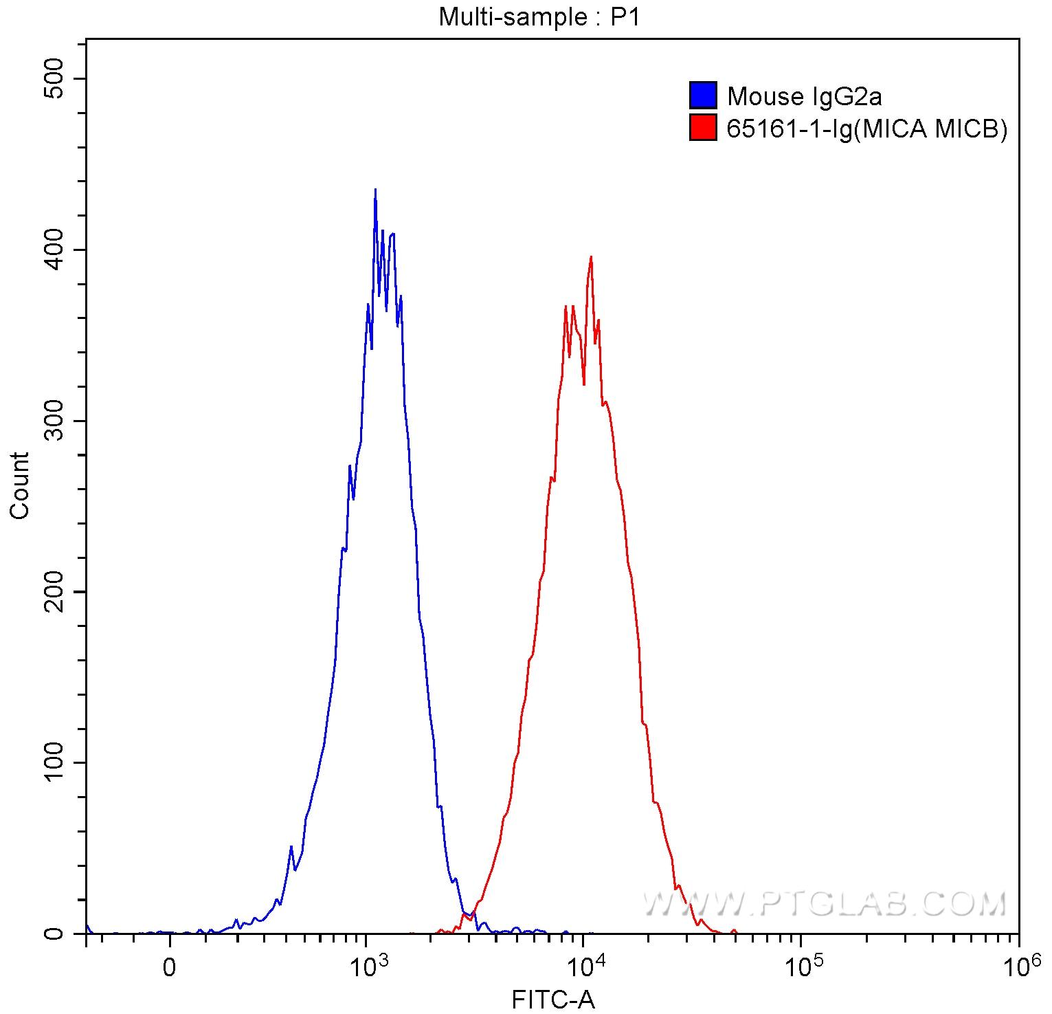 FC experiment of HeLa using 65161-1-Ig