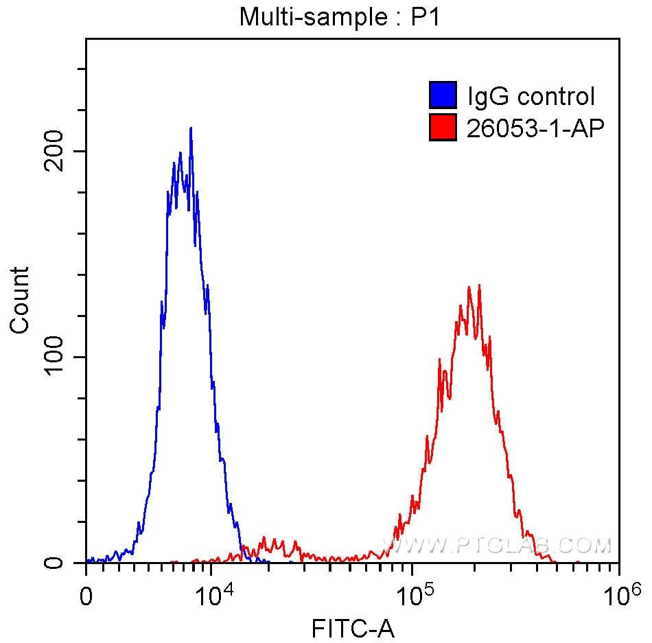 FC experiment of HepG2 using 26053-1-AP