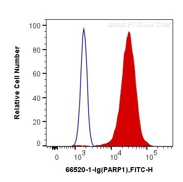 FC experiment of HeLa using 66520-1-Ig