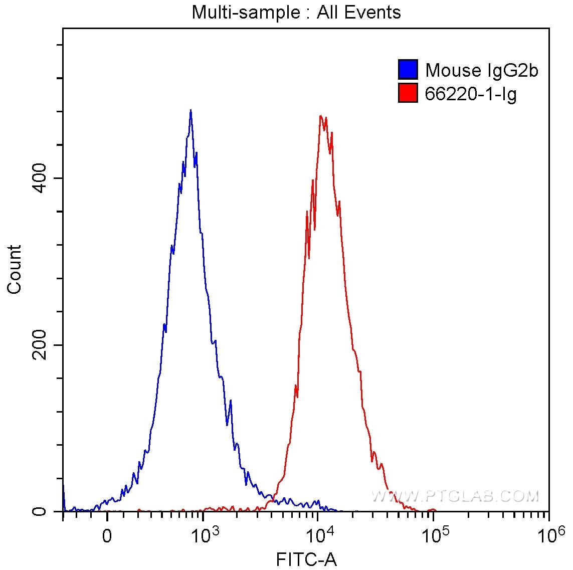 FC experiment of MOLT-4 using 66220-1-Ig