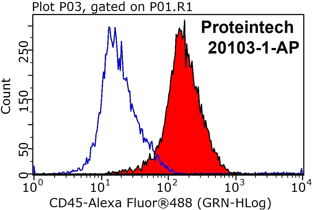 FC experiment of Jurkat using 20103-1-AP