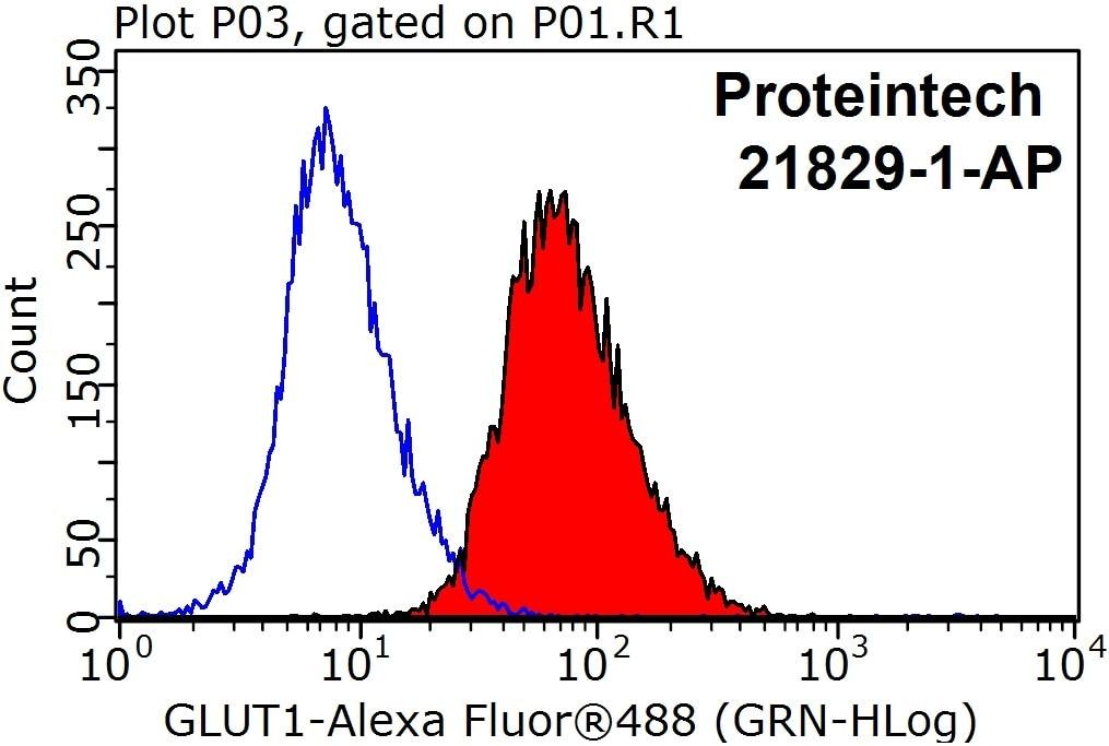 FC experiment of HeLa using 21829-1-AP