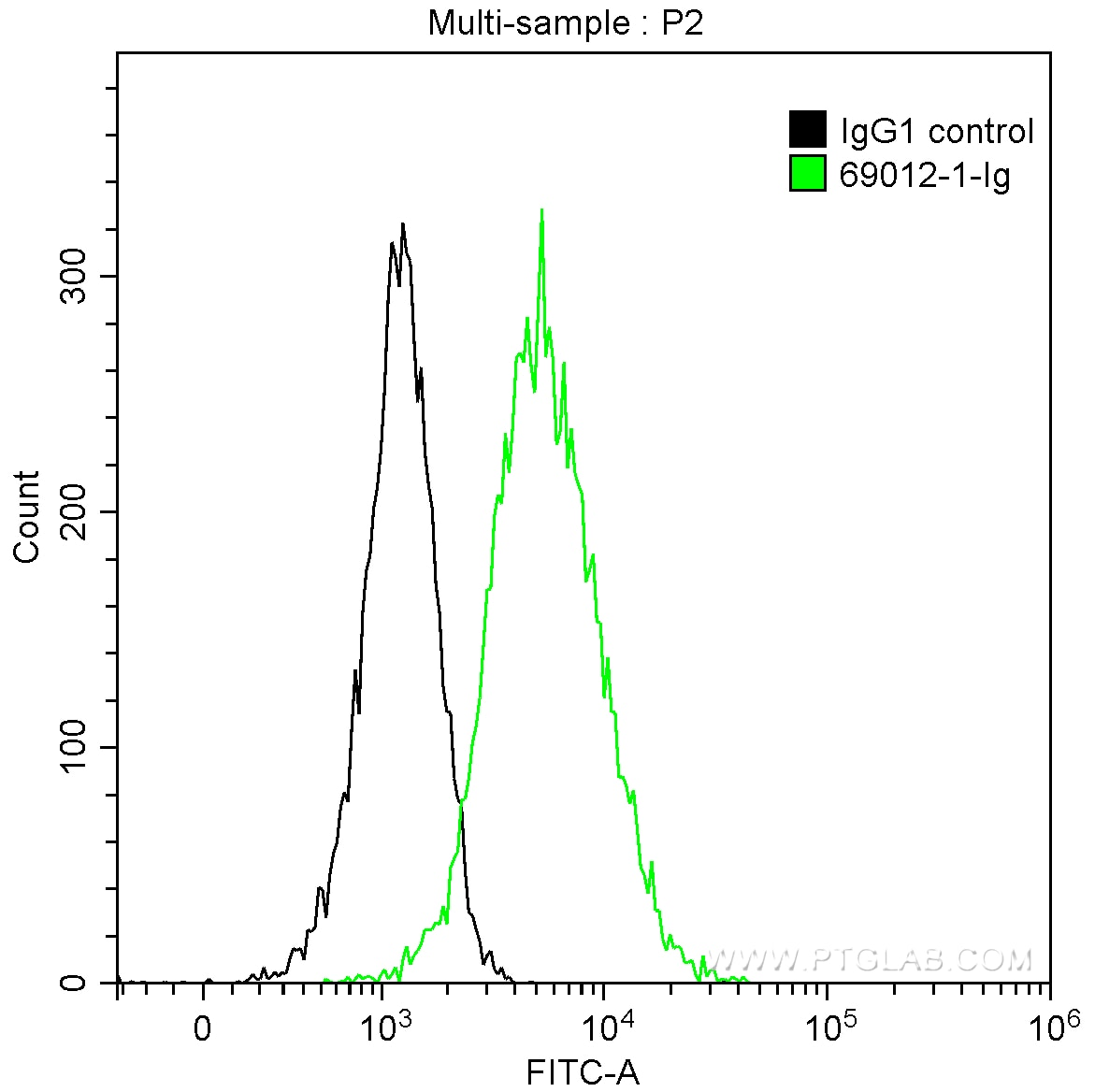 FC experiment of HEK-293 using 69012-1-Ig