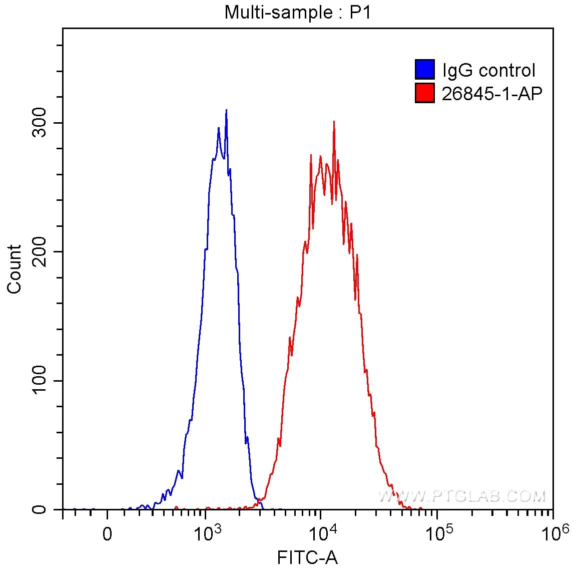 FC experiment of Raji using 26845-1-AP