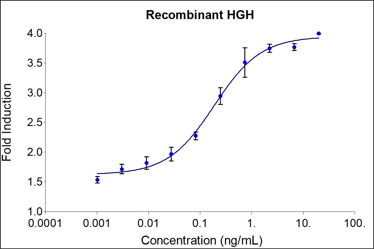 HGH activity assay