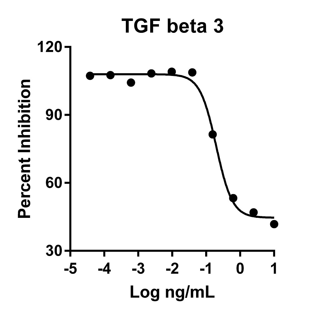 Recombinant Human TGF beta 3 Graph