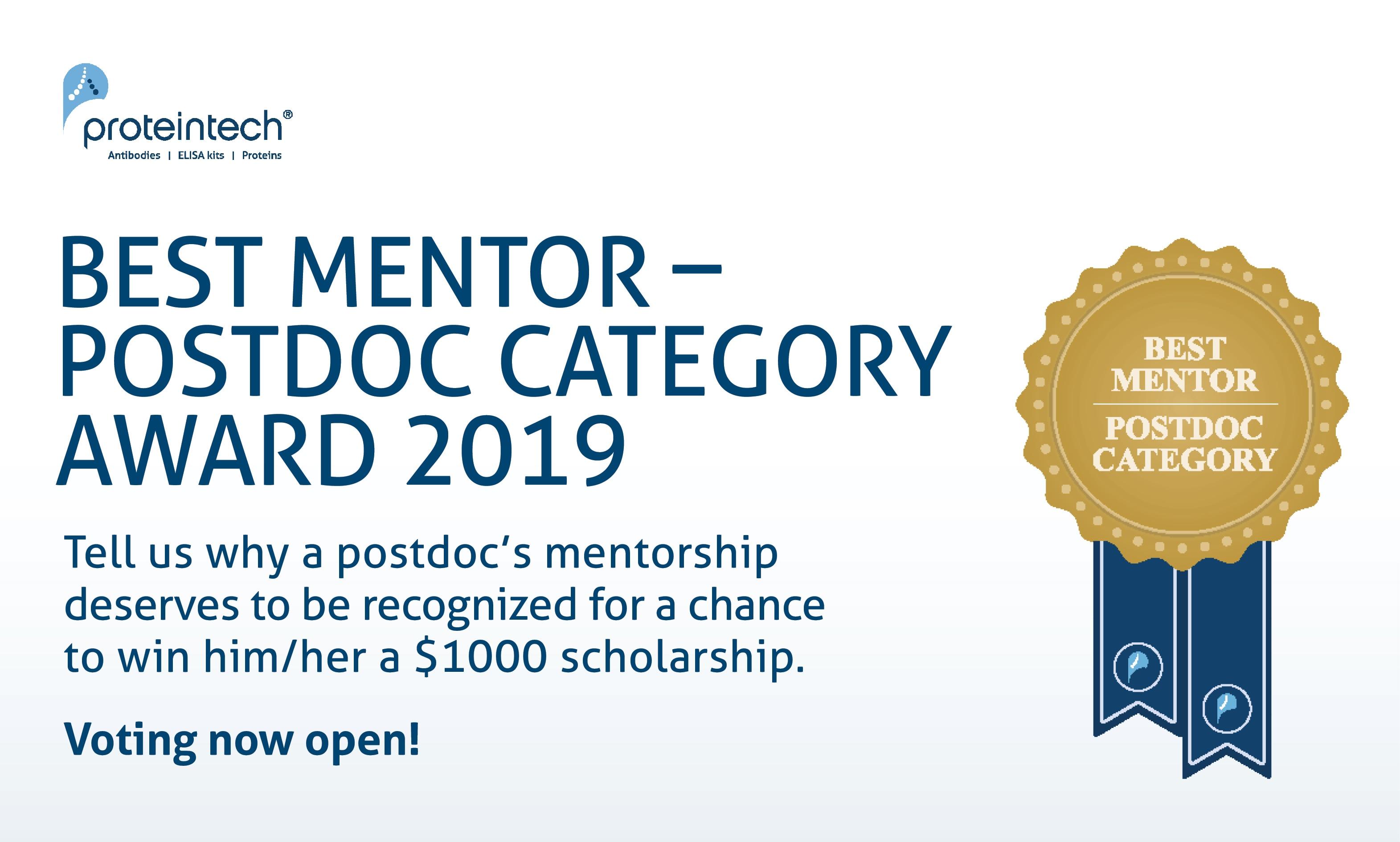 Best Postdoc Mentor Award | Proteintech Group